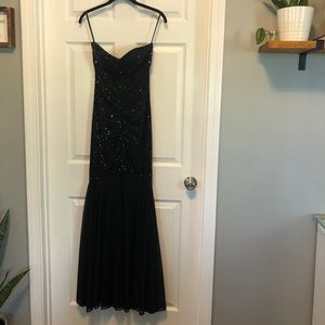 Strapless Sequin Evening Gown